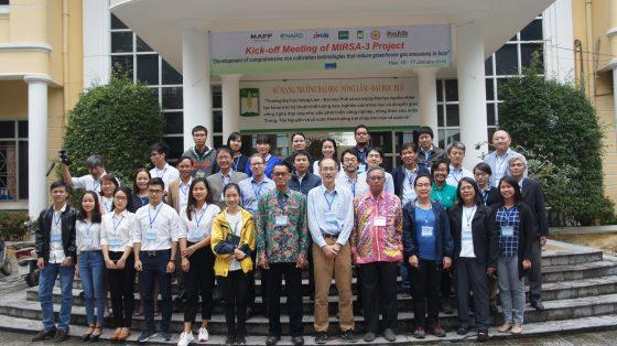 Hội thảo quốc tế: Phát triển kỹ thuật sản xuất lúa giảm phát thải khí gây hiệu ứng nhà kính tại châu Á – MIRSA-3