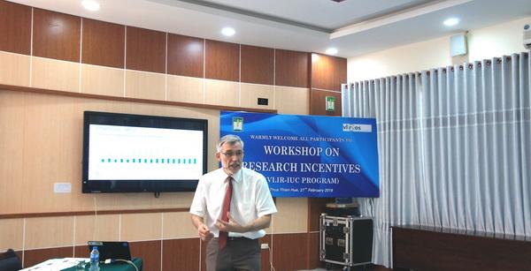 Hội thảo chia sẻ về cơ chế khuyến khích nghiên cứu khoa học trong các trường Đại học