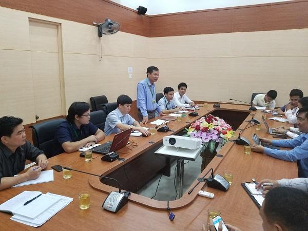 PGS.TS. Trần Thanh Đức - Hiệu trưởng phát biểu tại buổi làm việc